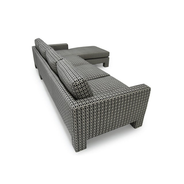 """Not Yet Made - Made To Order Spring Street Sectional """"Upholstered Legs"""" For Sale - Image 5 of 8"""