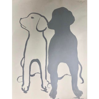 """Modern """"My Friend My Shadow"""" Original Artwork Signed by the Artist For Sale"""