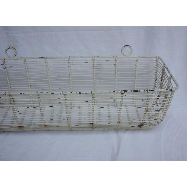 White Iron Basket Planter - Image 3 of 3