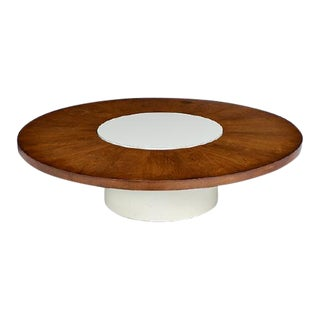 1960's Rotating Rosewood Coffee Table by Milo Baughman for Thayer Coggin for Circular Sofas For Sale