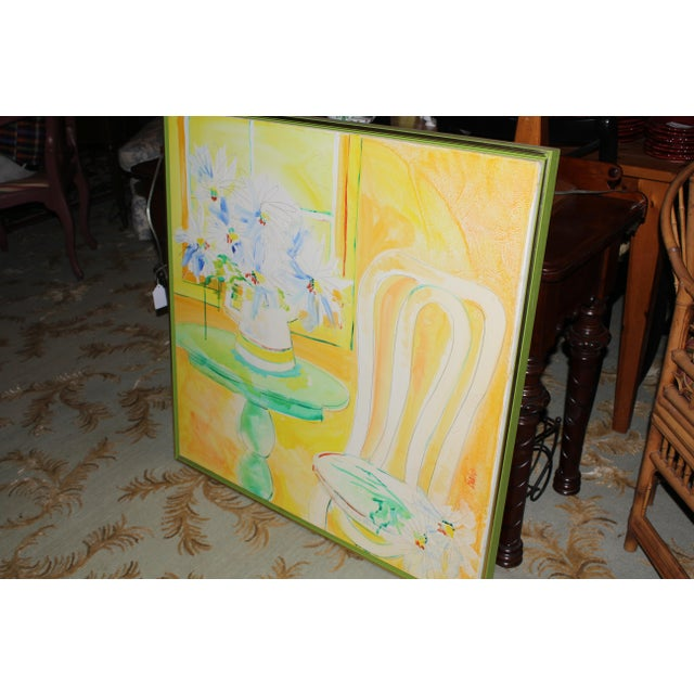 Vintage Mid-Century Yellow Still Life Painting For Sale - Image 4 of 12