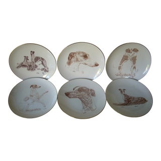 Whippet Plates by Laurelwood - Set of 6 For Sale