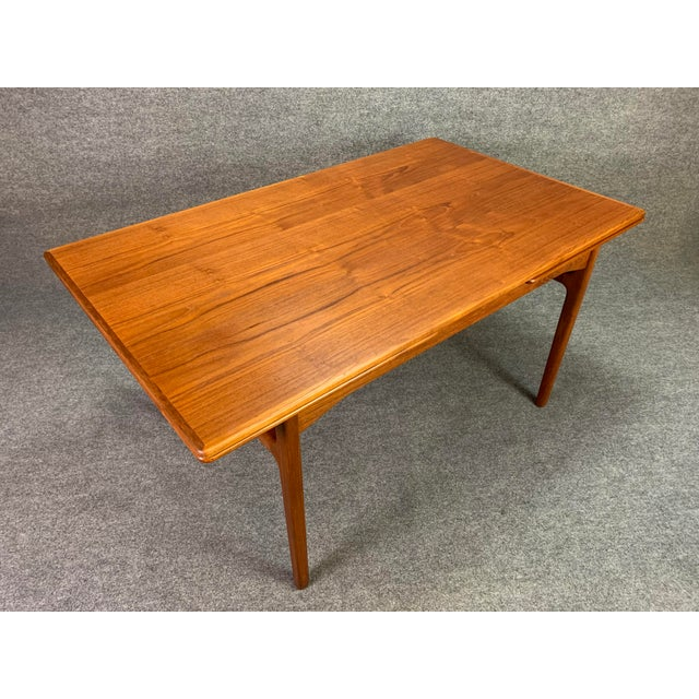 1960s Scandinavian Modern Teak Draw Leaf Dining Table For Sale In San Diego - Image 6 of 11