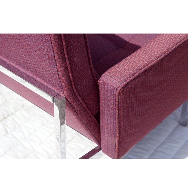 Florence Knoll Burgundy Sofa - Image 5 of 6