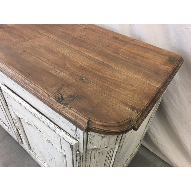 18th C French Provencal Three Door Painted Enfilade Sideboard For Sale - Image 9 of 13