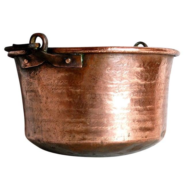 Antique Copper Cauldron Kettle For Sale