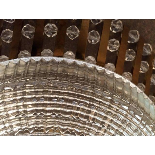 1950s Stejnar Austrian Crystal Flush Light Pendant For Sale In New York - Image 6 of 11