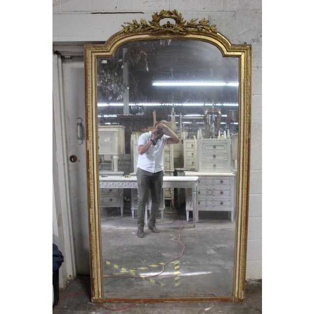 18th Century Louis XVI Giltwood Mirror For Sale - Image 9 of 9