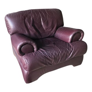 Italian Leather Modern Bergere For Sale