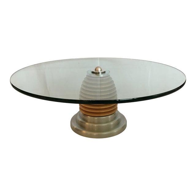 Vintage Mid Century Modern Postmodern J. Wade Beam for Brueton Coffee Table For Sale