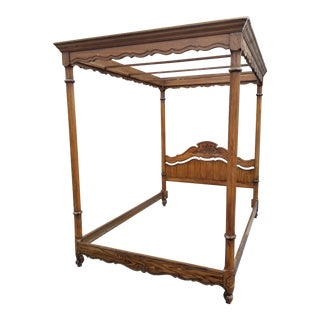 Thomasville Walnut Queen Canopy Bed