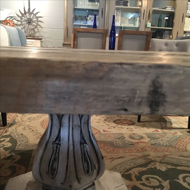 Reclaimed Pine Top Round Dining Table - Image 5 of 6