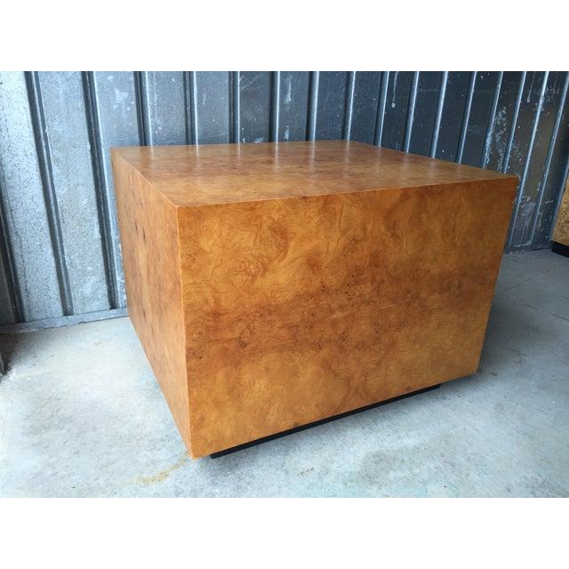 Mid-Century Olive Burl Pedestal Table - Image 5 of 7