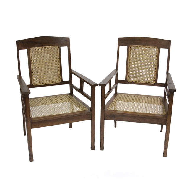 British Colonial Armchairs - Pair For Sale