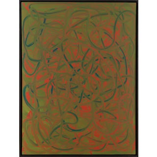 """""""A348"""" Contemporary Minimalist Abstract Acrylic Painting by Marco Schmidli, Framed For Sale"""
