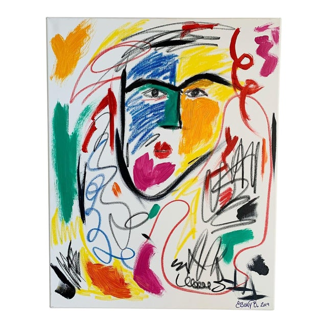 """""""He is a Queen"""" Abstract Face Painting For Sale"""