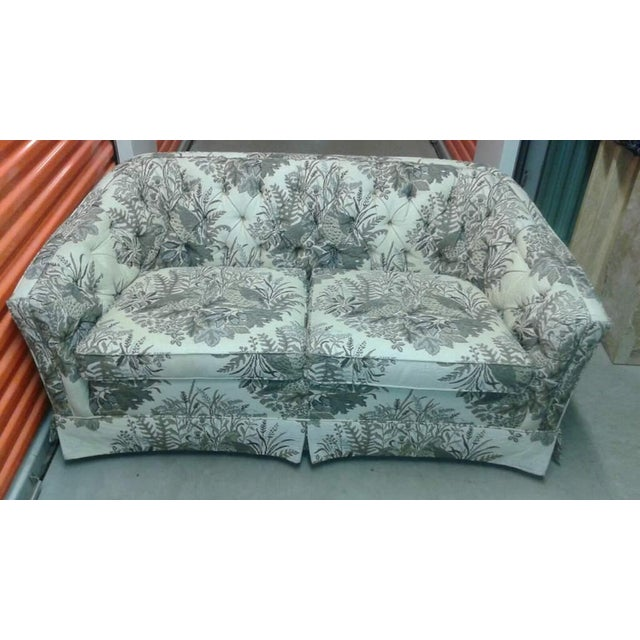 Vintage Ethan Allen Tufted Sofas /Loveseats - Pair - Image 4 of 10