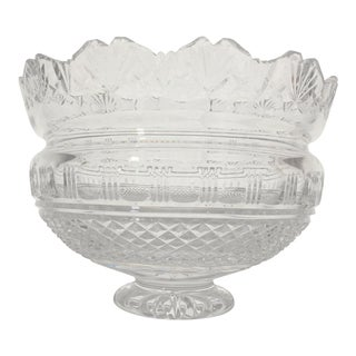 Waterford Crystal Kings Bowl by John Connolly For Sale
