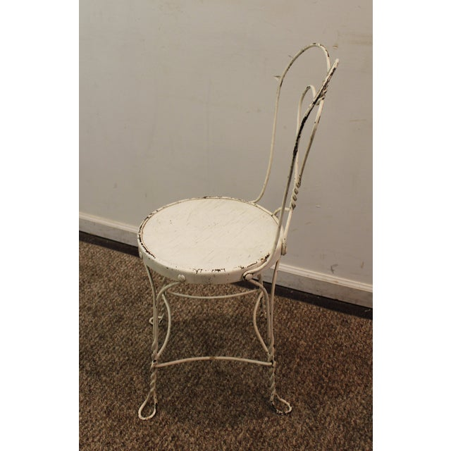 Vintage Ice Cream Heart-Back Wire Side Chair - Image 5 of 11