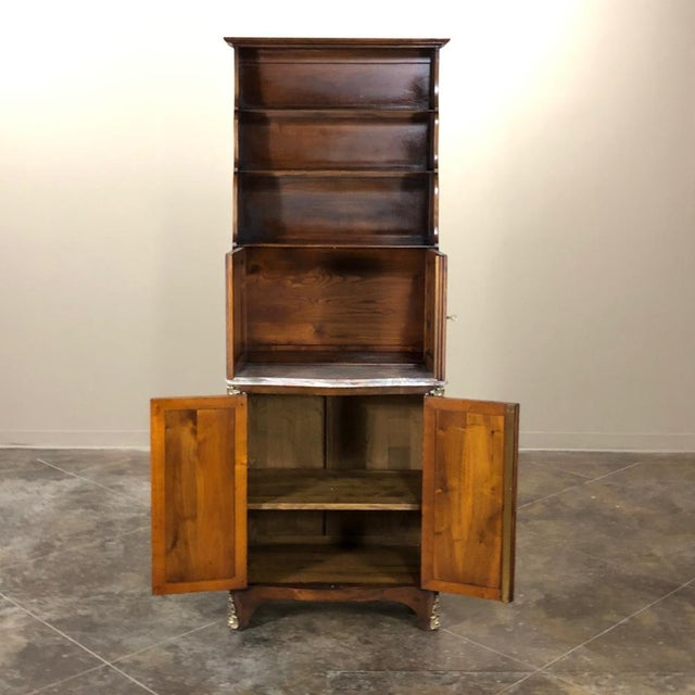 19th Century Country French Blonde Walnut Cabinet For Sale In Dallas - Image 6 of 13