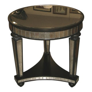 Hollywood Regency Uttermost Sinley Mirrored Accent Table For Sale