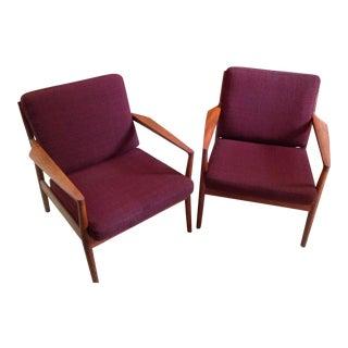 Mid-Century Modern Borge Jensen & Sonner Teak Chairs - a Pair