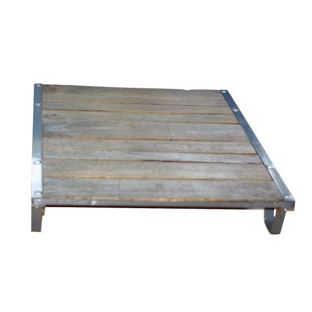 Vintage Industrial Pallet Coffee Table - Image 1 of 5