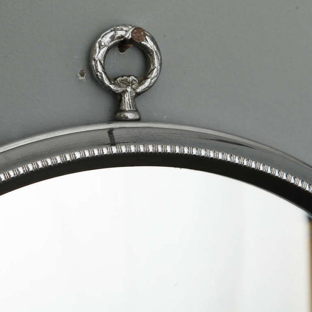 Mid-Century Round Silver Mirrors - A Pair - Image 6 of 6