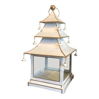 Chinoiserie Metal Pagoda Style Lantern For Sale