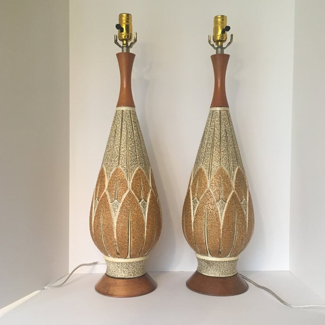 Mid-Century Modern f.a.i.p. Table Lamps - a Pair For Sale - Image 9 of 9