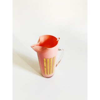 Mid Century Blush Pink Glass Pitcher Preview