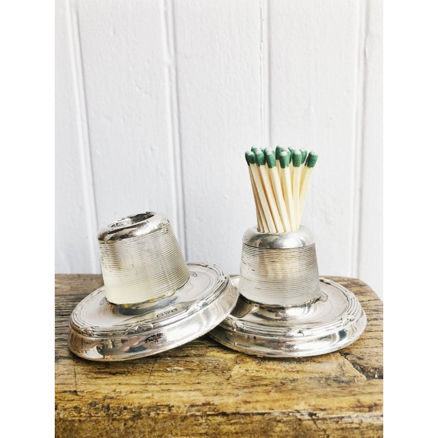 Antique English Sterling Silver and Glass Match Strikers - a Pair For Sale - Image 10 of 10