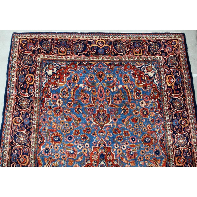 1900s, Handmade Antique Persian Kashan Rug 4.1' X 6.6' - 1b706 For Sale - Image 9 of 12