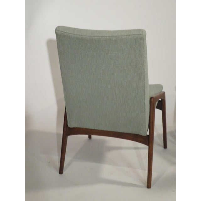 Midcentury Modern Walnut Dining Chairs - Set of 4 - Image 7 of 10