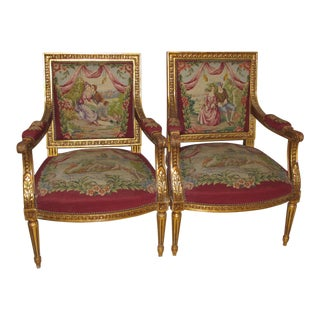 Late 19th Century French Louis XV Style Chairs- A Pair For Sale