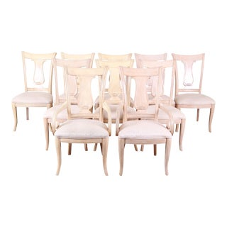Bernhardt Mediterranean Style Harp Back Dining Chairs - Set of 10 For Sale