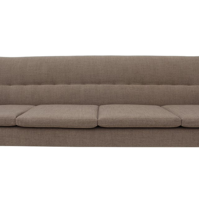 Norwegian Sofa with Sculpted Solid Teak Details For Sale - Image 12 of 12