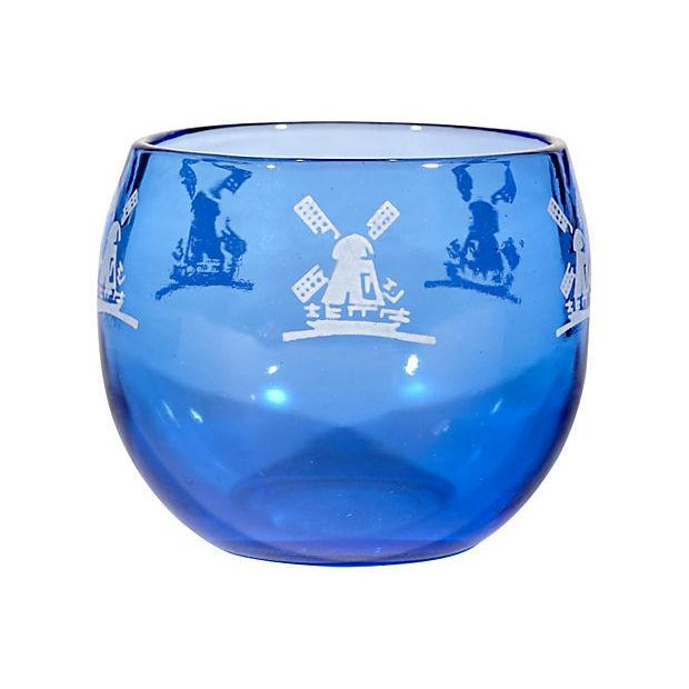 Cobalt Windmill Cocktail Set - Set of 6 For Sale In Boston - Image 6 of 7