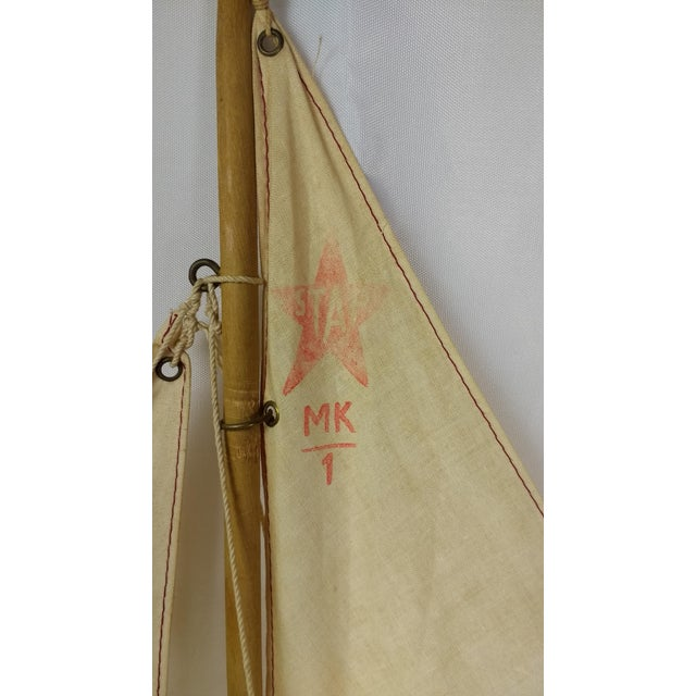 White Vintage Star Yacht Pond Sail Boat For Sale - Image 8 of 11