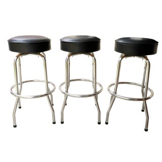 Mid Century Modern Bar Stools - Set of 3 For Sale