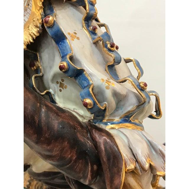 Italian Professor E. Pattarino Monumental Early 20th Century Italian Gilt Terracotta Cyrano De Bergerac Statue Figurine For Sale - Image 3 of 13
