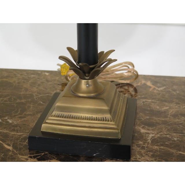 1990s Vintage Brass & Ebony Pineapple Table Lamp For Sale In Philadelphia - Image 6 of 9