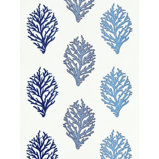 Scalamandre Coral Reef Embroidery, Marine Fabric For Sale