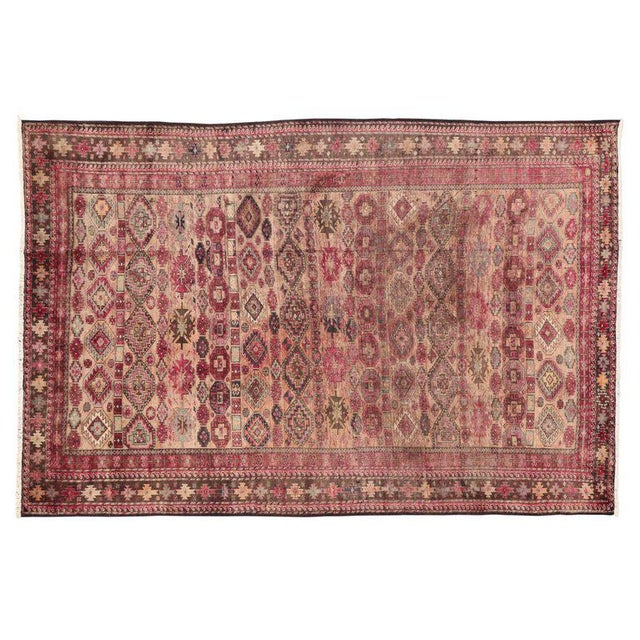 Pink Vintage Persian Baluch Rug with Modern Tribal Style For Sale In Dallas - Image 6 of 9