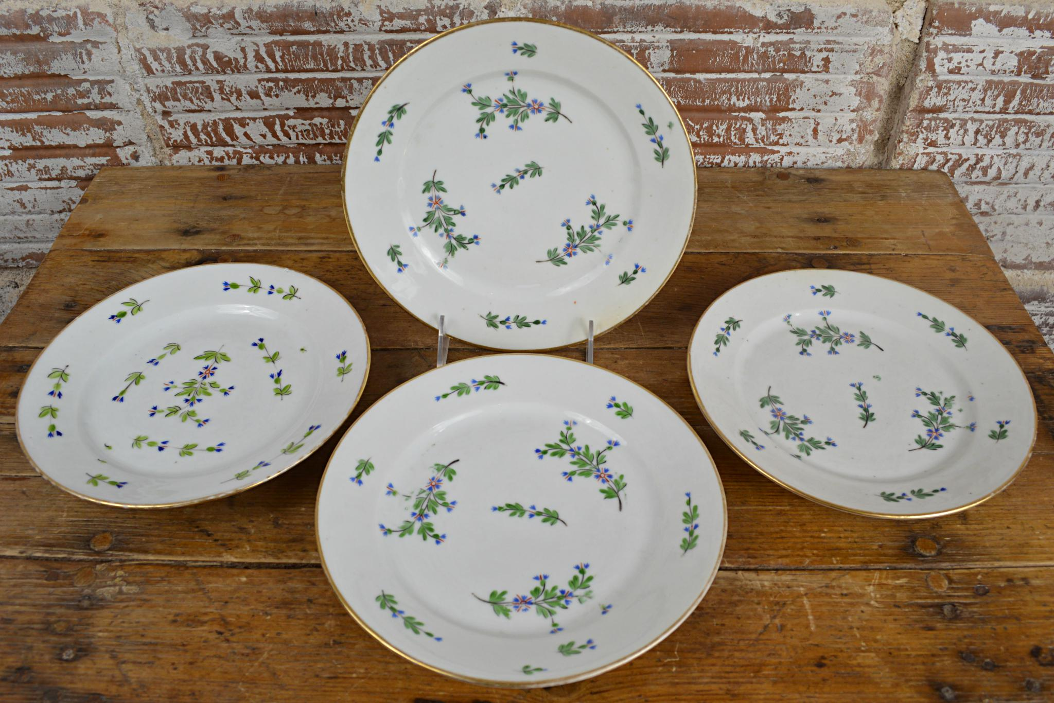 Antique Cornflower Sprig Old Paris Plates - Set of 4 - Image 9 of 10  sc 1 st  Chairish & Antique Cornflower Sprig Old Paris Plates - Set of 4 | Chairish
