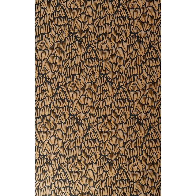 Gaar Black & Gold Wallpaper - 1 Double Roll For Sale