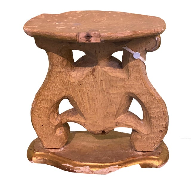 18th Century Carved Wood Stand For Sale - Image 4 of 6