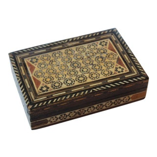 Middle Eastern Decorative Trinket Box For Sale