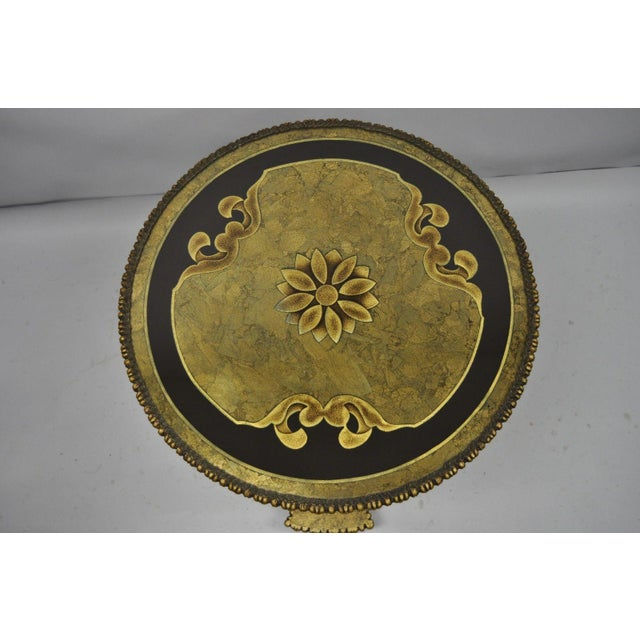 Figurative 1960s Vintage French Inspired Figural Gold Side Table For Sale - Image 3 of 11