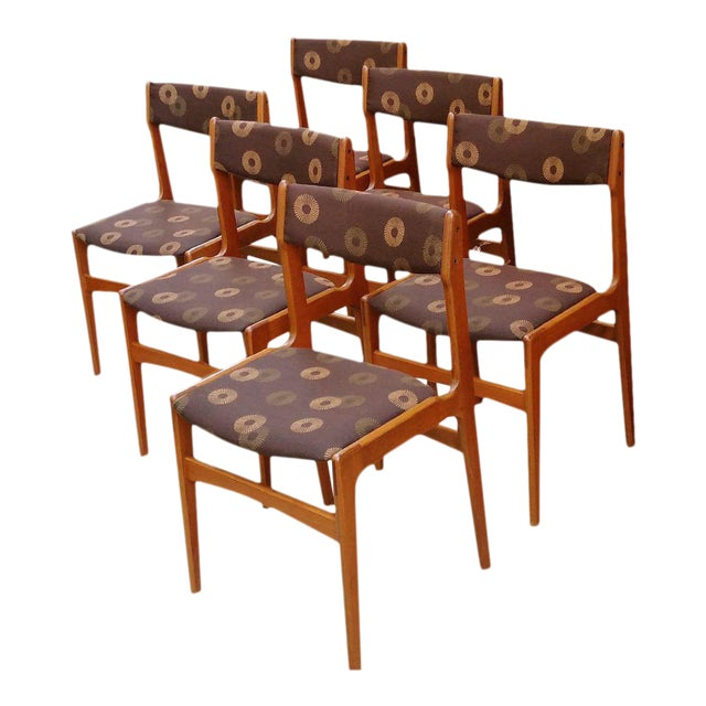 Anderstrup Mobelfabrik Danish Modern Teak Dining Chairs - Set of 6 - Image 1 of 6
